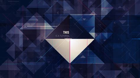 triangle pattern after effects isoscene animate a complex scene based on triangles on