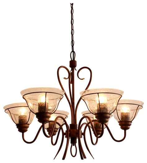 Seeded Glass Chandelier Louis S6 Steel And Seeded Glass Chandelier Traditional Chandeliers By Berti Lighting