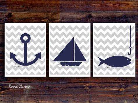 Kids Art Print Nautical Nursery Baby Boys Room By Eeartstudio Sailboat Nursery Decor