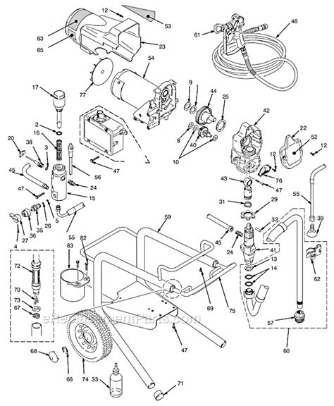 graco 395 parts diagram graco 233961 parts list and diagram series a and b