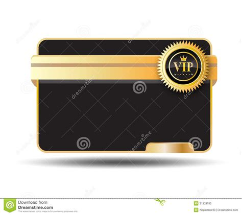 Credit Card Label Template Vip Card Label Stock Photos Image 31939793