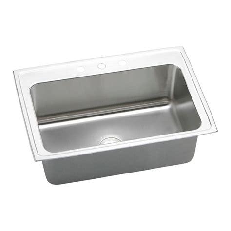 elkay lustertone drop in stainless steel 33 in 3