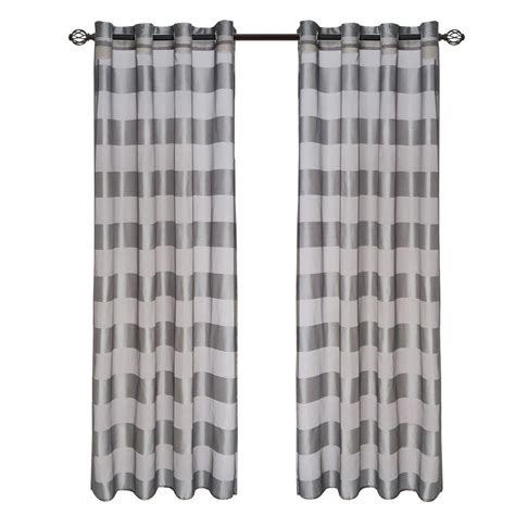 drapes 108 length lavish home grey sofia grommet curtain panel 108 in