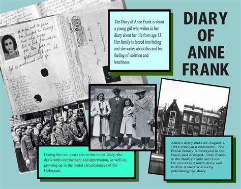 frank diary book report make a diary of frank poster book report project