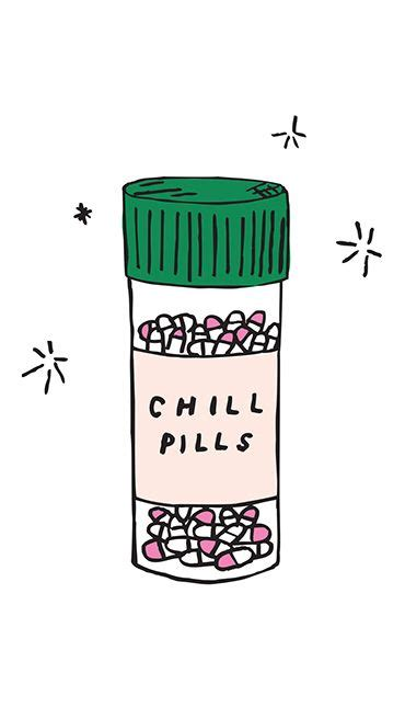 iphone wallpaper chill pill cute iphone  wallpaper