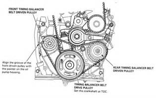 solved 1996 honda accord timing belt installation i need