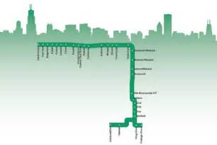 Chicago Green Line Map chicago green line map