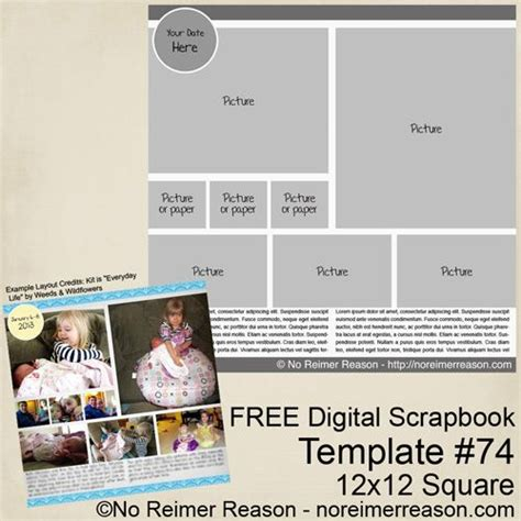 Digital Template by Free Digital Scrapbook Layout Templates Www Pixshark