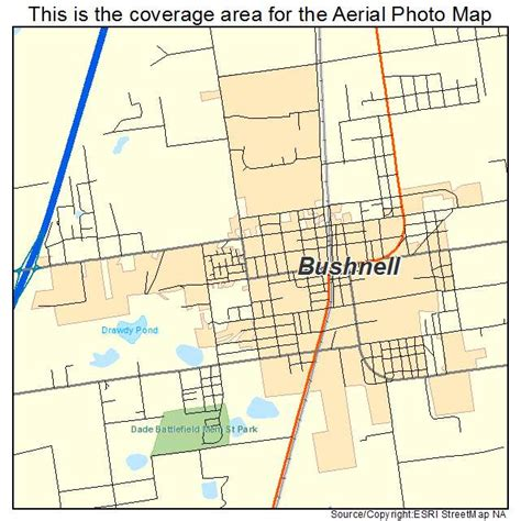 map of bushnell florida aerial photography map of bushnell fl florida