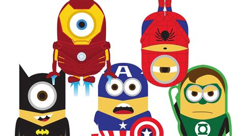 imagenes de minions super heroes spiderman vs hulk vs ironman vs superman vs batman minions