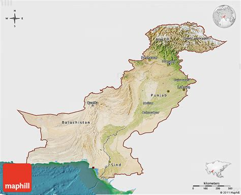 pakistan map satellite satellite 3d map of pakistan single color outside