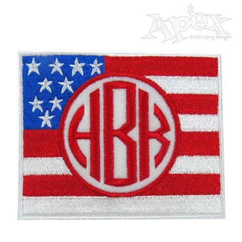 design frame usa flag usa embroidery frame design