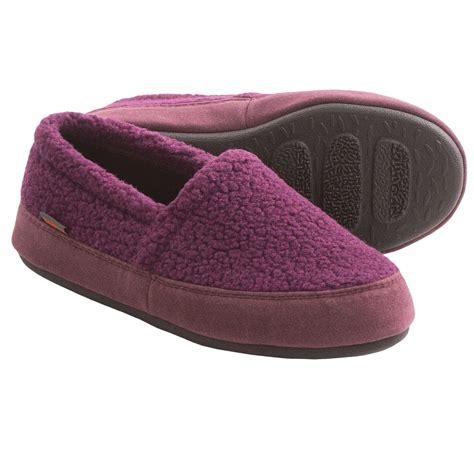 acorn moccasin slippers acorn berber tex moccasin slippers for in plum