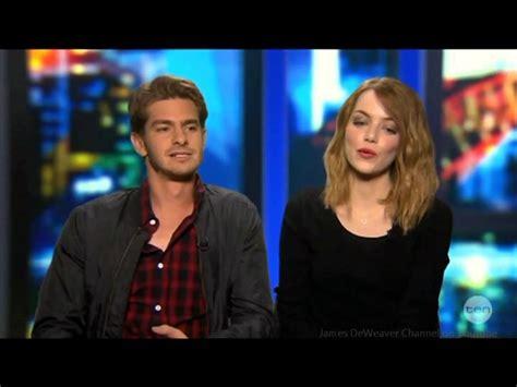emma stone youtube interview andrew garfield emma stone spider man s junk