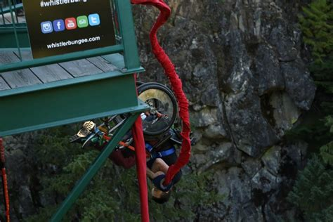 Bungee Jumping Chair - yoocan lamoureux bungee jumping in a wheelchair