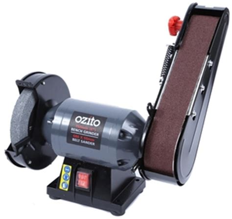 bench grinder belt sander attachment ozito 150mm bench grinder with belt sander attachment