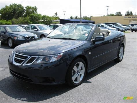 2009 nocturne blue metallic saab 9 3 2 0t convertible