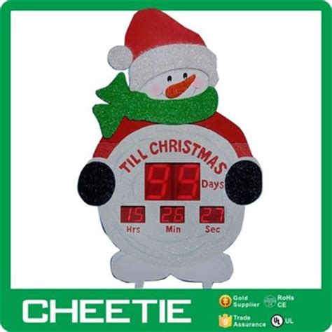 countdown to christmas snowman lighted digital clock yard decor countdown lawn decoration www indiepedia org
