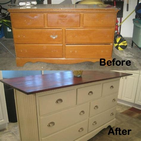 dresser kitchen island diy old dresser i turned into kitchen island diy kitchen
