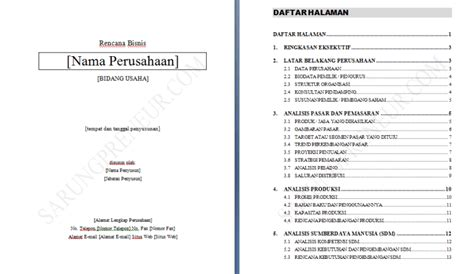 Contoh Format Business Plan Sederhana | contoh proposal usaha dan business plan