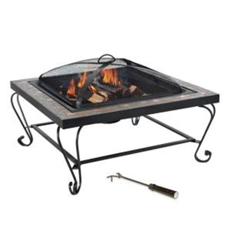 Home Depot Firepits Copper Inlay Slate Pit L Ft456pst The Home Depot