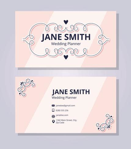 wedding business card template wedding planner business card template free