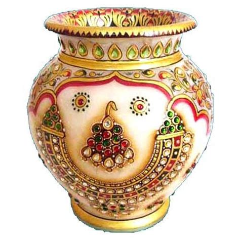 Handcraft Or Handicraft - marble handicraft pot view specifications details of