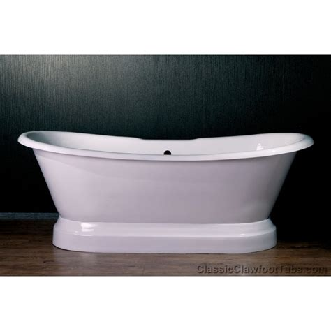 pedestal bathtub 71 quot cast iron double ended slipper pedestal tub classic clawfoot tub