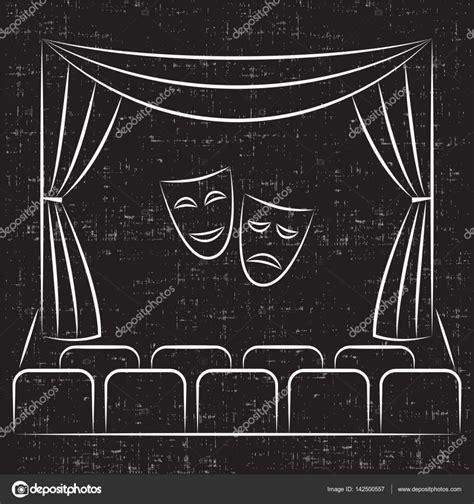 cortinas teatro palco de teatro cortina bancos m 225 scaras de teatro de