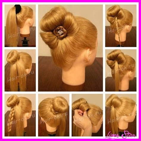 Hair Styles Step By Step With Pictures | step by step hairstyles livesstar com