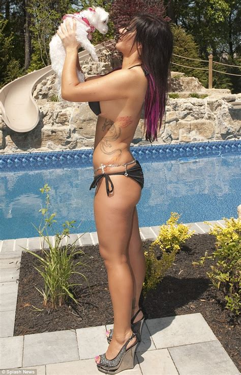 free backyard porn jersey shore s jwoww defies gravity as she models her new