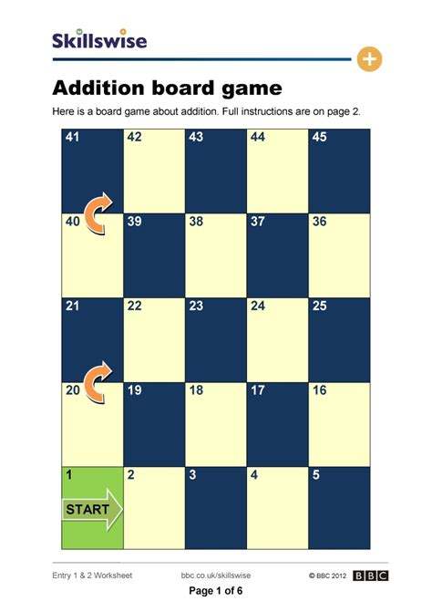 printable board games for addition addition snake game worksheets math addition games for