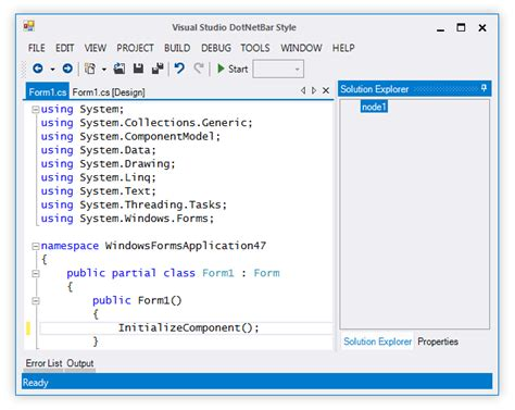 list theme vb net dotnetbar for winforms 11 2 released with visual studio