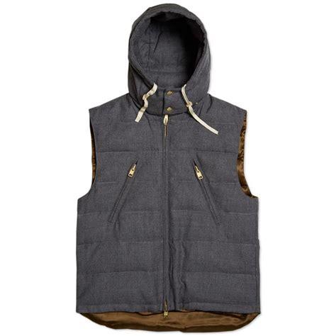 puffer vest gant rugger puffer vest grey