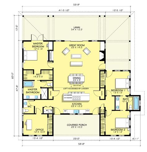 One Story House Plans Bonus Room Cottage House Plans Single Story House Plans With Bonus Room