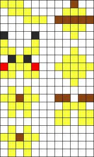 3d pikachu perler bead pattern bead sprites characters