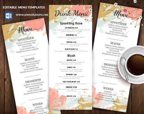 dining menu template free dining menus aiwsolutions