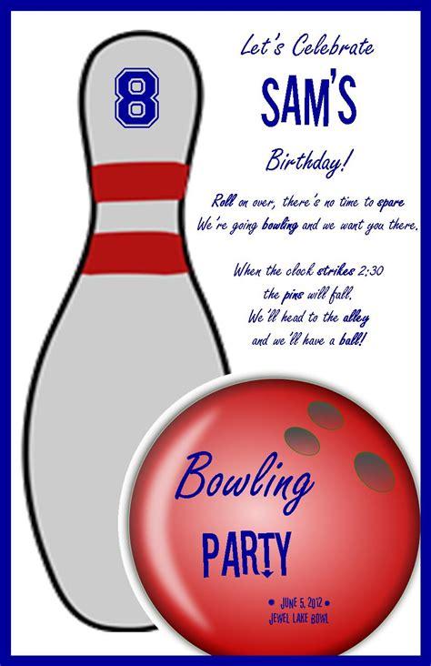 bowling party invitation profoundly ordinary