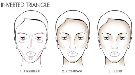 upside down triangle faceshape with bangs how to contour your face tips and techniques for each