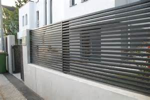 Modern Fence One Of Our Last Projects Modern Horizontal Aluminum Fence