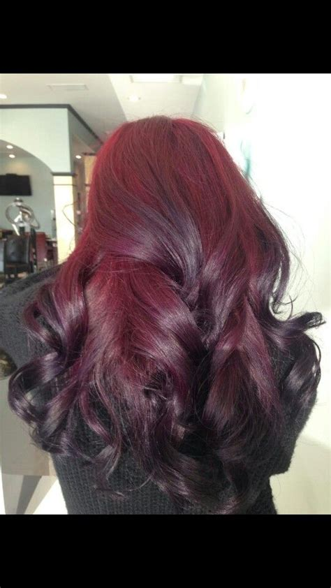 ombre with pravana vivids color ombre i used pravana vivids wild orchid with red on