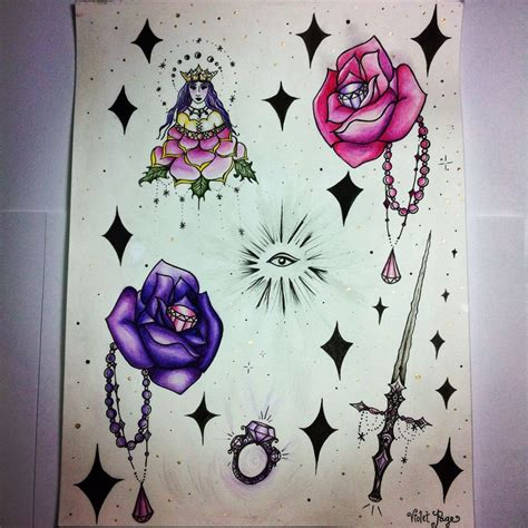 Violet Tattoo Flash | 102 best images about tattoos by violet page on pinterest