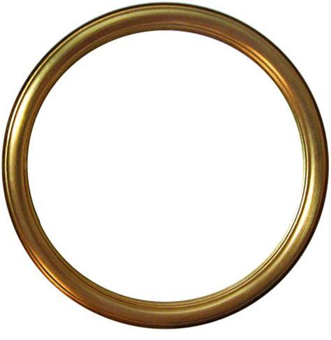 cornice rotonda cornice rotonda in legno oro da 100 cm