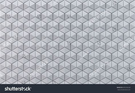 white hexahedron mosaic background creative design stock