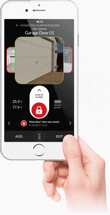 garage door opening app gogogate2 open and monitor your garage anywhere