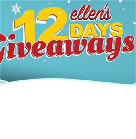 Ellen 13 Day Giveaway - winzily sweepstakes 2017 rare pieces code words more
