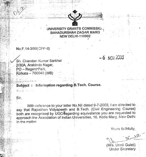 Permission Letter Of Ugc Net Ksou Rvd Rajasthan Vidyapeeth Karnataka State Open Cmj
