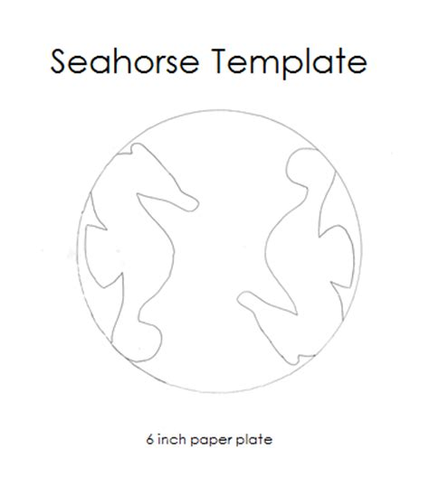 paper nameplate template paper plate seahorse template
