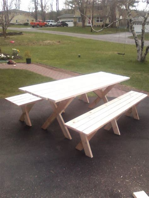 picnic table with detached benches picnic table with detached benches