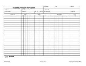 Take Sheet Template by Trade Item Construction Takeoff Worksheet